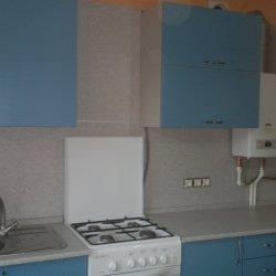 Кухня крашенный МДФ голубая