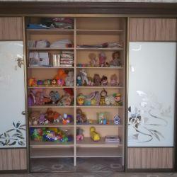 Шкаф-купе с багетом и пескоструйным рисунком(3)