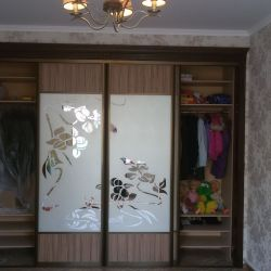 Шкаф-купе с багетом и пескоструйным рисунком(1)