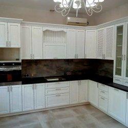 Угловой кухонный гарнитур МДФ рамочный
