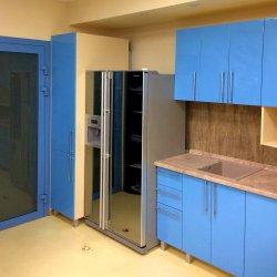 МДФ каршеный, глянец - кухонная мебель для офиса