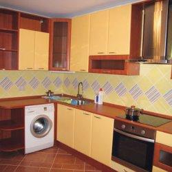 Кухня пленочный МДФ желто-коричневая