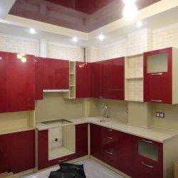 Кухня МДФ-пластик красная