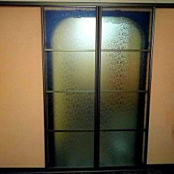 Стеклянные двери-купе