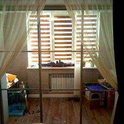 Прозрачная перегородка на балкон