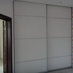 Шкаф-купе - ДСП с вставкам, белый