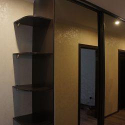 Зеркальный шкаф встроенный с боковинами и угловой полкой