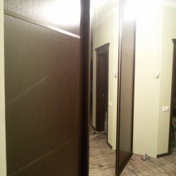 Шкаф купе темно-коричневый с зеркалом 2