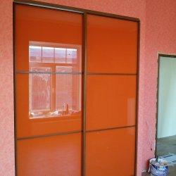 Фасад шкафа-купе пленка Оракал (ораньжевый)