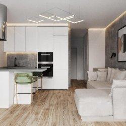 Кухонная зона в квартире-студии 30м2
