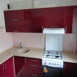 Красная кухня из крашенного МДФ 2