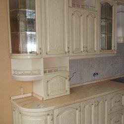 Кухня из массива дерева белая
