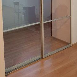 Алюминиевая раздвижная система, заполнение - стекло