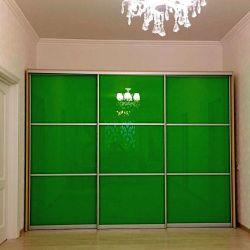 Зеленый шкаф-купе