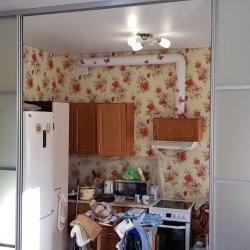 Раздвижная перегородка для зонирования кухни