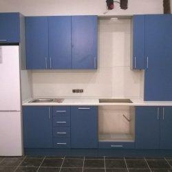 Кухня МДФ крашенный (синий матовый)