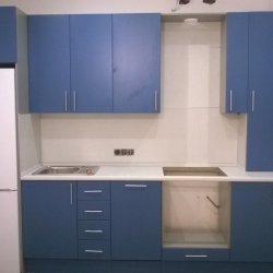 Кухня МДФ крашенный (синий матовый) 2