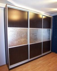 Шкаф-купе - ДСП с вставками Узорчатое стекло