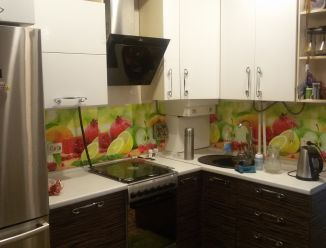 Кухня МДФ крашенный с фотопечатью