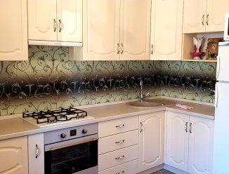 П-образная кухня МДФ крашеный с фрезеровкой