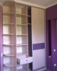 Шкаф-купе - ДСП с вставками, Фиолетовый