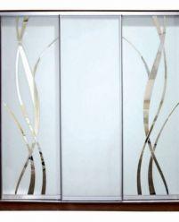 Матовое стекло с зеркальным узором