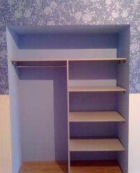 Встроенный шкаф в нише