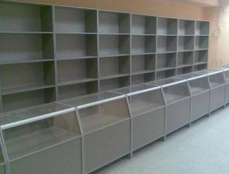 Мебель для магазина серая