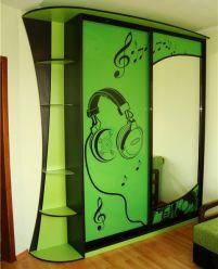 Шкаф-купе  фотопечать, Зеленый 1