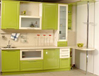 Кухня пленочный МДФ зеленая