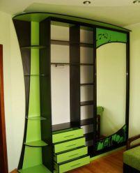 Шкаф-купе фотопечать,Зеленый 2