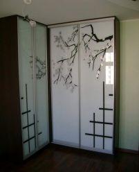 Шкаф-купе с пескоструйным рисунком, Дерево