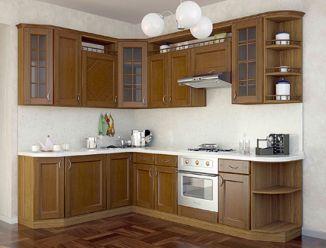 """Угловая кухня под """"массив дерева"""""""