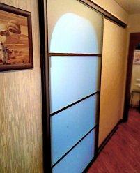 Раздвижная межкомнатная дверь, матовое стекло