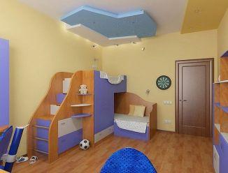 Кровать для двойни с шкафом и комодом