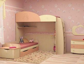 Бежево-розовая детская