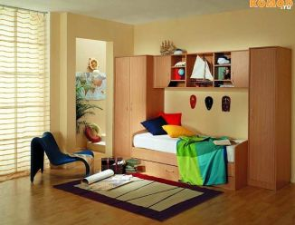 Мебельная стенка с детской кроватью