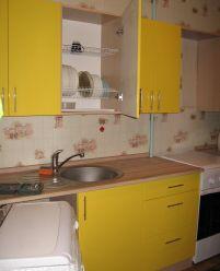 Кухня пленочный МДФ желтая