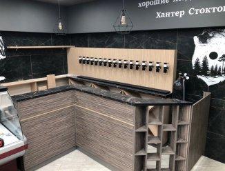Мебель с барной стойкой для пивного магазина
