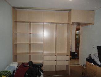 Двойной шкаф-купе спальня-коридор