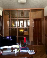 Раздвижная прегородка для рабочего кабинета
