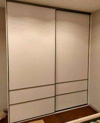 Белый 2-х дверный шкаф-купе, ЛДСП