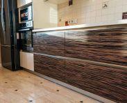 """Кухня в стиле """"модерн"""" с гладкими фасадами из шпона"""