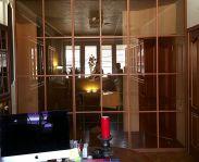 Межкомнатная перегородка с тонированным стеклом