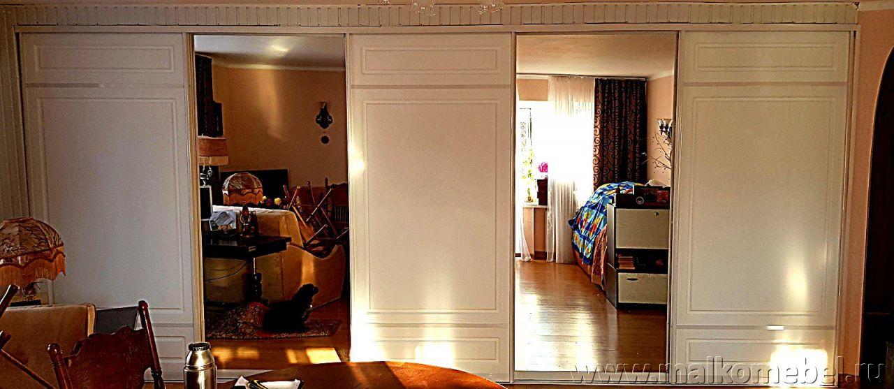 двери купе мдф с фрезеровкой для встроенного шкафа мебель